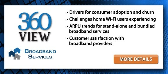 360 View: Broadband Services in the U.S. examines uptake and perception of broadband services among U.S. households. It assesses perception of broadband providers, service bundling, adoption of services, upgrades and downgrades of broadband, and perception of broadband speeds received. It also compares perceptions among various groups of consumers, including those with mobile data services.